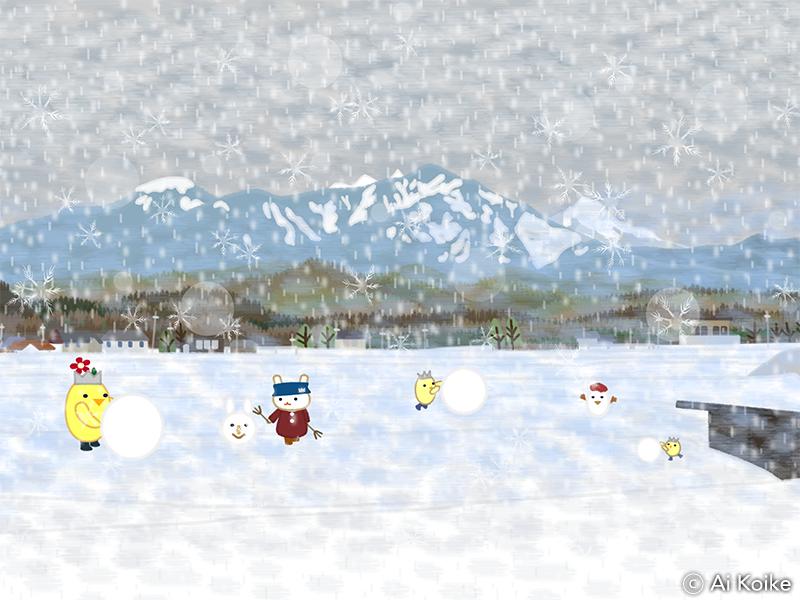 八ヶ岳の雪景色